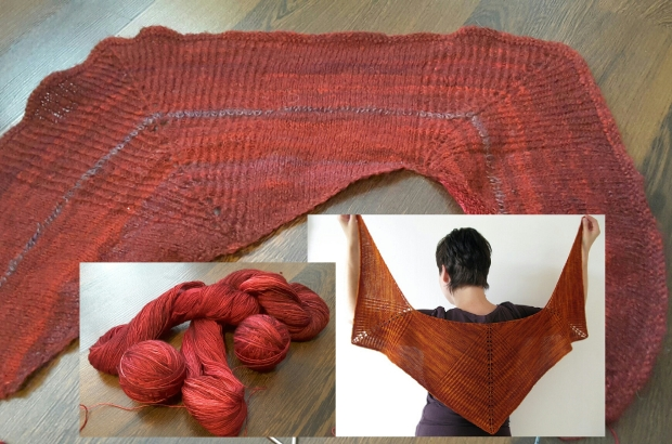 shawl design and new yarn